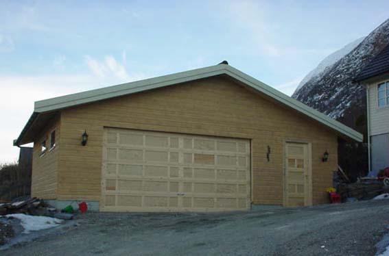 Stor garasje byggesett